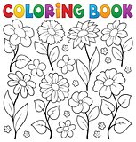 Coloring book flower topic 3