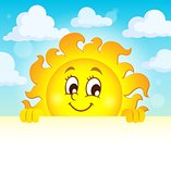 Happy lurking sun theme image 1