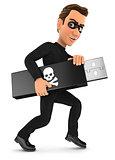 3d thief holding usb key
