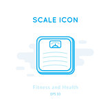 Scales icon isolated on white.