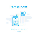 Music player icon isolated on white.