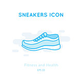 Sneakers icon isolated on white.