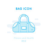 Sports bag icon isolated on white.