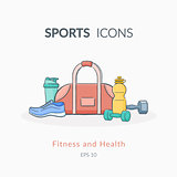 Sports equipment background.