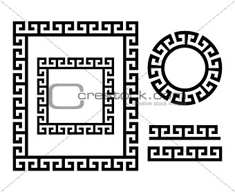 Ancient Greek frame and border - Key pattern form Greece