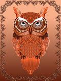 Big Serious Ornate Owl