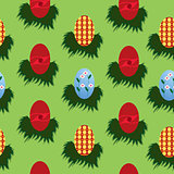 Seamless eggs pattern for Easter