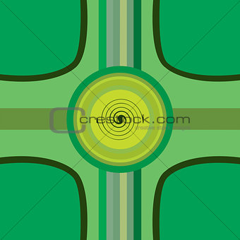 Abstract design background with curves and circles