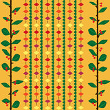 Pattern with cherry branch