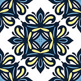 blue damask classic seamles pattern