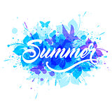 Blue summer tropical background