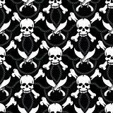 seamless pattern pirate skulls