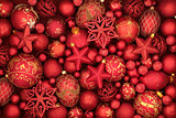 Christmas Red Bauble Decorations