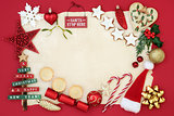 Christmas Decorative Background Border