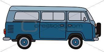 Classic blue minivan