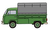 Classic green small truck