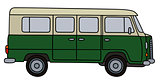 Old green minibus