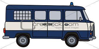 Old police van