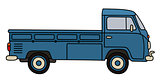 Retro blue small truck