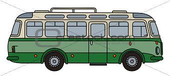 Classic green autocar