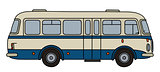 Classic blue bus
