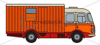 Old orange moving truck