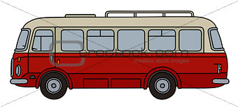 Old red bus