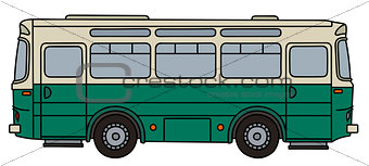 Classic green bus