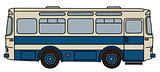 Retro blue bus