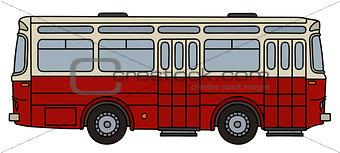 Old dark red bus