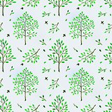 Seamless background with trees