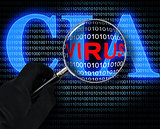 The virus and the CIA logo