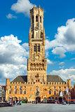 Market Square (Markt) in Bruges, Belgium