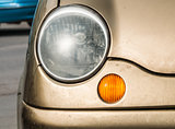 Detail of old car headlight.