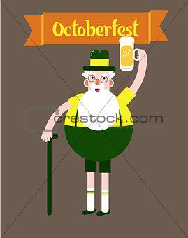 Oktober fest character grandpa