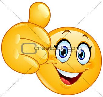 Thumb up female emoticon