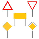 Road sign icons. Flat design