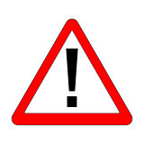 Red Exclamation Sign - Danger Triangle Road sign
