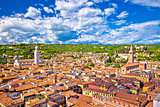 Verona rooftops and cityscape aerial view