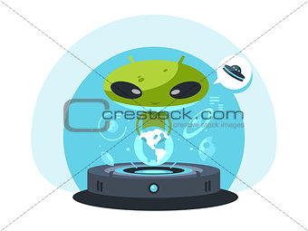Alienand the planet earth