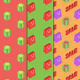 Seamless pattern with packages and gifts.