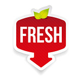 Fresh label red sticker