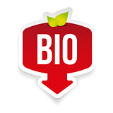 Bio label red sticker