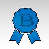 Blue bitcoin ribbon