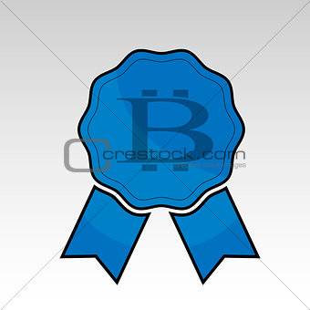 Blue bitcoin ribbon
