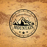 Mountain expedition emblem