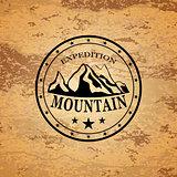 Mountain expedition emblem