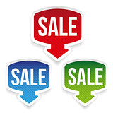 Sale label set vector