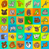 pattern with cartoon animals design