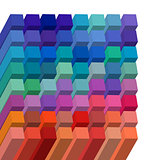 background cubical abstract design